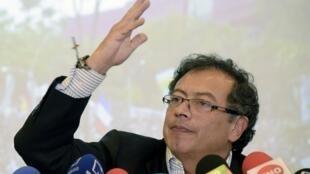 Gustavo Petro durante una rueda de prensa en Bogotá, Colombia, el 14 de junio de 2018.