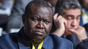 Patrice Edouard Ngaissona à l'assemblée générale de la Confédération africaine de football), le 2 février 2018 à Casablanca, au Maroc.