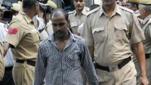 Mukesh Singh lors du procès pour le viol collectif de Jyoti Singh, le 24 septembre 2013 à New Delhi.