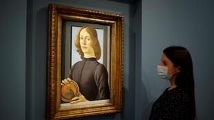Botticelli's 'Young Man Holding a Roundel' was sold in New York last month for $92 million