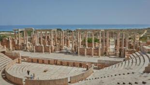 Théâtre de Leptis Magna, Libye, avril 2018