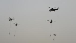Exercice militaire de contre-terrorisme, le 23 mai 2017 à Riyad.