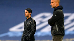 Arsenal manager Mikel Arteta (left) worked with Manchester City boss Pep Guardiola at the Etihad