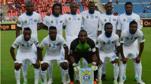 L'équipe de RD Congo avant sa demi-finale face à la Côte d'Ivoire.