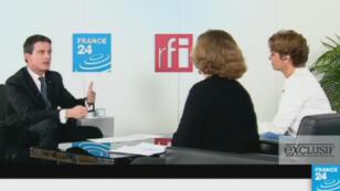 Le Premier ministre Manuel Valls était l'invité exclusif de France 24.