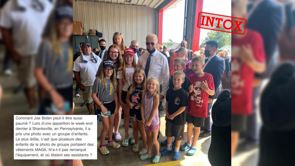 Was Joe Biden tricked by pro-Trump kids? Not really