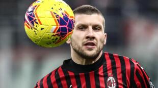 AC Milan's Croatian forward Ante Rebic has scored eight goals in his last nine league matches