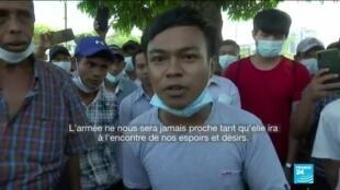2021-02-01 12:01 En Birmanie, l'armée saisit le pouvoir et arrête Aung San Suu Kyi, ses partisans en colère