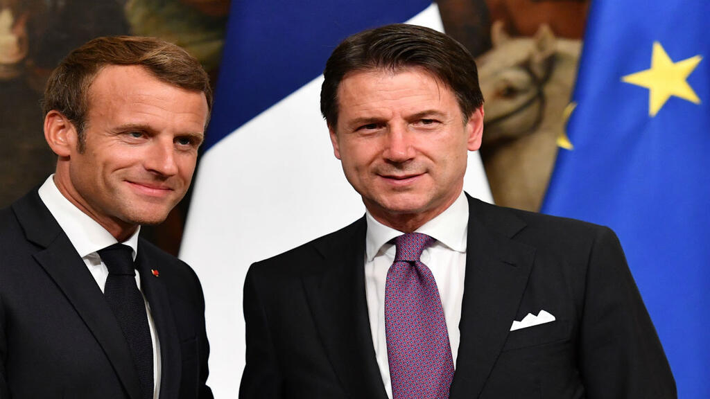 Migrants at top of the agenda as Macron meets Conte in Rome