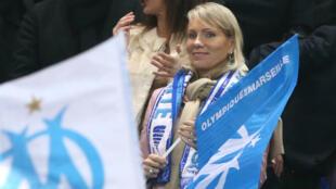 L'actionnaire principale de l'OM, Margarita Louis-Dreyfus, en 2012 au Stade de France.