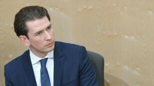 Le chancelier autrichien, Sebastian Kurz, lundi 27 mai au Parlement à Vienne.