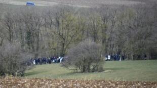 Rassemblement contre le projet d'enfouissement des déchets nucléaires à Bure (Meuse) le 4 mars 2018, près du bois Lejuc, qui avait alors été évacué