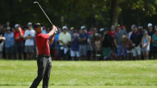 Tiger Woods, le 3 septembre, au Dell Technologies Championship, près de Boston.