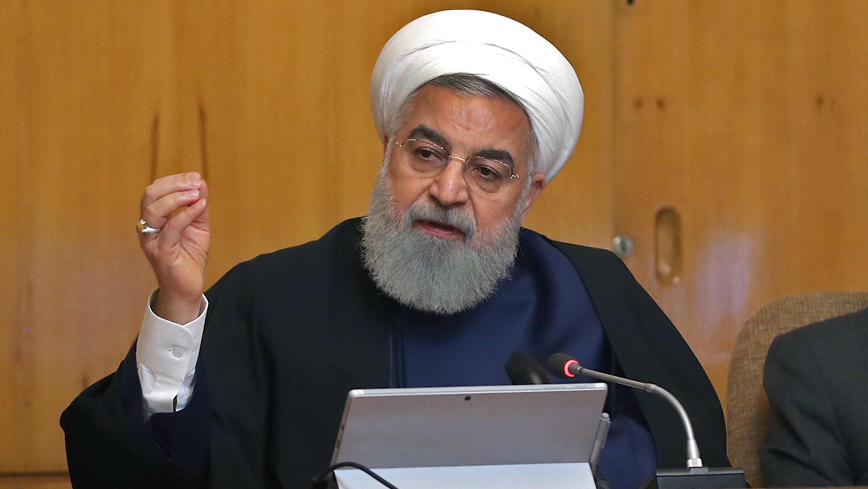 El presidente iraní Hasan Rohani lidera una reunión de gabinete en Teherán, el 8 de mayo de 2019.
