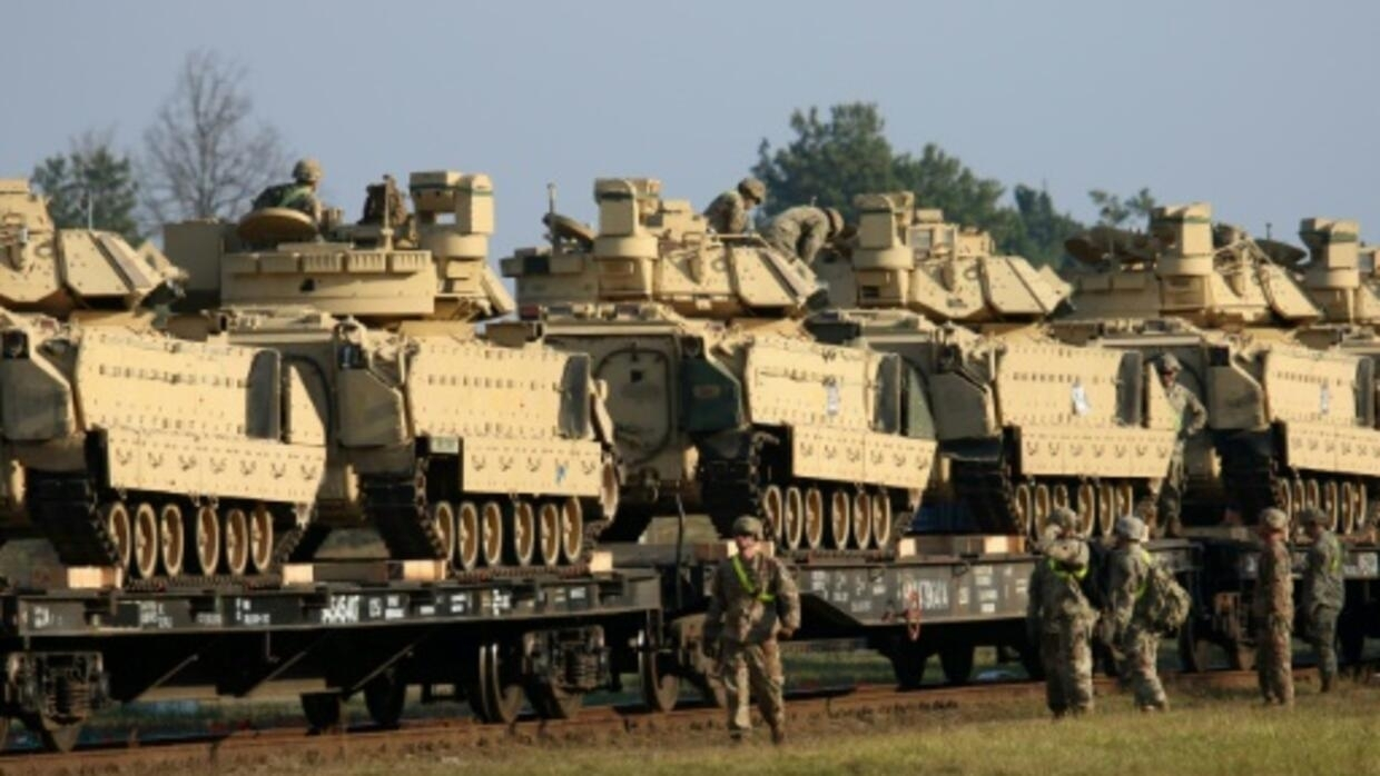 US moves troops, tanks into Lithuania in message to Russia