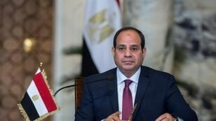 In this file photo taken on December 11, 2017 Egyptian President Abdel Fattah al-Sisi speaks on during a press conference with his Russian counterpart (unseen) following their talks at the presidential palace in the capital Cairo