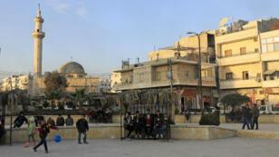 Le nord de la ville d'Afrin, le 2 février.