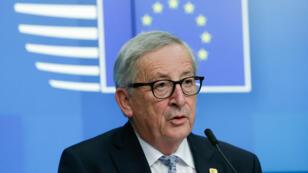 Le président de la commission européenne, Jean-Claude Juncker, lors d'une conférence de presse, le 11 avril 2019, à Bruxelles.