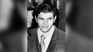 Michel Cardon en 1979, au moment de son procès pour meurtre.