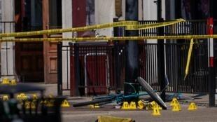 La zona en la que se registró un tiroteo que cobró la vida de al menos 10 personas el 4 de agosto de 2019.