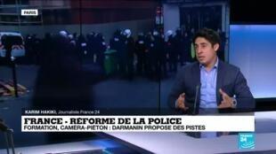 2020-12-01 13:42 Réforme de la police : Darmanin propose des pistes