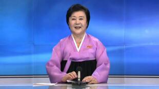 North Korean newsreader Ri Chun-Hee.