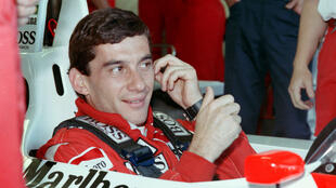 Ayrton Senna lors du Grand Prix de F1 d'Australie, le 12 novembre 1988.