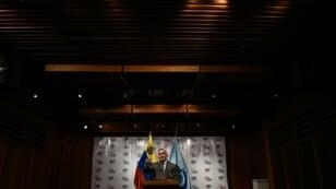 Venezuela's Attorney General Tarek William Saab speaks during a press conference in Caracas, on November 8, 2018