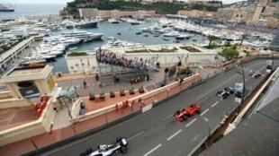 جانب من سباق جائزة موناكو الكبرى، المرحلة السادسة من بطولة العالم للفورمولا واحد، في 26 أيار/مايو 2018.