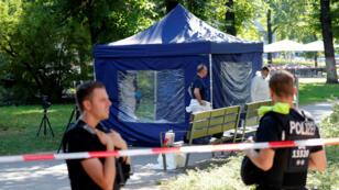 Plus de 200 policiers ont été dépêchés sur les lieux du crime à Berlin, vendredi 23 août.