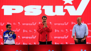 El presidente de Venezuela, Nicolás Maduro, asiste a una reunión con miembros del Partido Socialista Unido de Venezuela (PSUV) en Caracas, Venezuela, 19 de julio de 2019.