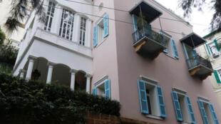 Vue de la villa de Carlos Ghosn à Beyrouth.