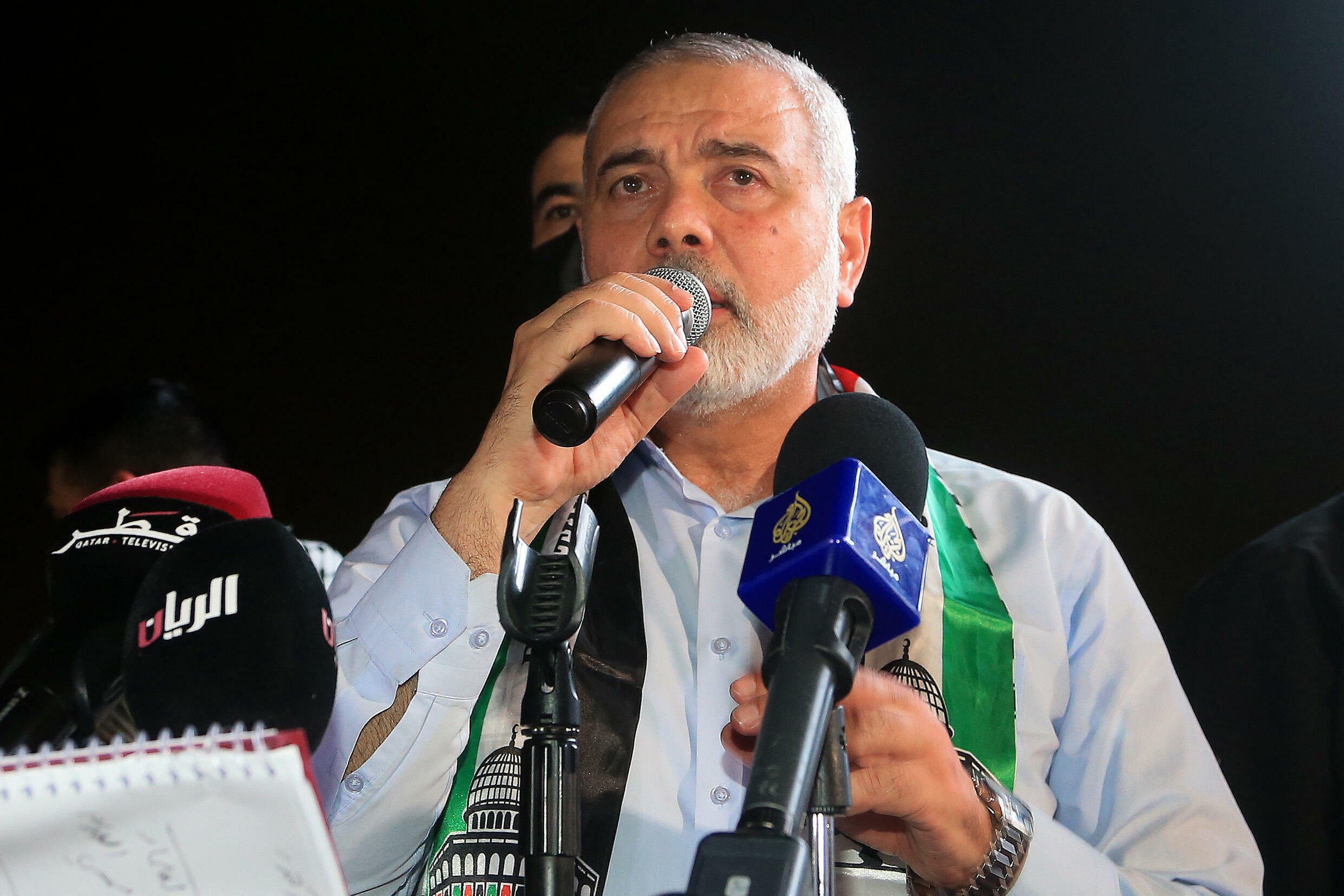 Hamas has confirmed the unopposed re-election of its leader Ismail Haniyeh as head of the Palestinian Islamist movement