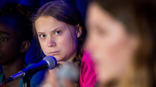 La activista Greta Thunberg habló en la sede de la ONU el 23 de septiembre.