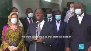 2020-11-03 15:10 Ivory Coast's Ouattara declared presidential election winner with 95 percent of vote