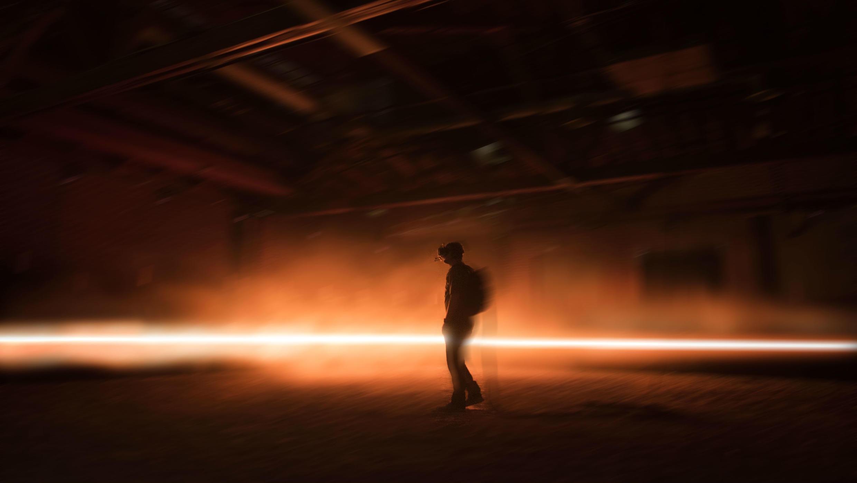 """Experimento visual de la obra """"Carne y Arena"""", de Alejandro Iñárritu."""