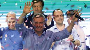 El presidente argentino, Mauricio Macri, se pronunció desde la sede del frente Cambiemos, en Buenos Aires, tras conocerse los primeros resultados de las elecciones legislativas.