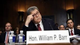 وزير العدل الأمريكي وليام بار أثناء جلسة الاستماع بمجلس الشيوخ 1 مايو/أيار.