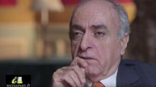 Ziad Takieddine lors de son entretien à Mediapart.
