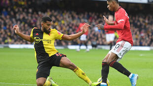 Watford defender Adrian Mariappa (left) is one of six Premier League players or staff to test positive for coronavirus