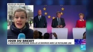 2020-01-31 12:04 Brexit : L'Union européenne souhaite garder des relation très étroites avec Londres