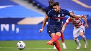 Olivier Giroud scored the last of his 40 France goals in September's win over Croatia