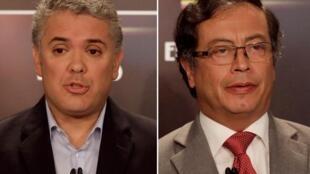 En la segunda vuelta presidencial en Colombia se enfrentarán Iván Duque y Gustavo Petro.