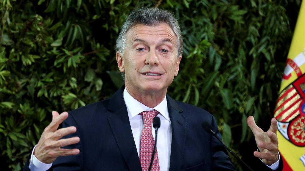 El presidente de Argentina, Mauricio Macri, durante un discurso, en el Centro Cultural Kirchner, el 25 de marzo de 2019