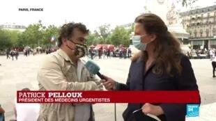 """2020-07-14 15:07 14 juillet - Manifestation de soignants : """"On espérait beaucoup"""", regrette Patrick Pelloux, médecin urgentiste"""