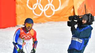 Le skieur Mathieu Faivre après son slalom géant, dimanche, aux JO de Pyeongchang.