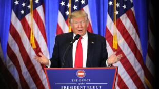Donald Trump s'est voulu rassurant sur la question du conflit d'intérêts lors de sa conférence de presse, le 11 janvier..