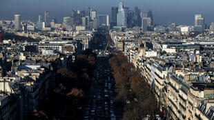 Vue de Paris, prise le 12 décembre 2018.