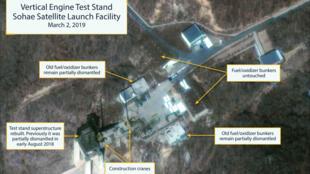 Imágenes satelitales del Centro de Lanzamiento de Satélites de Sohae. Tongchang-Ri, Corea del Norte.