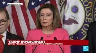"""2020-01-15 16:18 Nancy Pelosi on impeachment trial: """"We should have witnesses and documentation"""""""